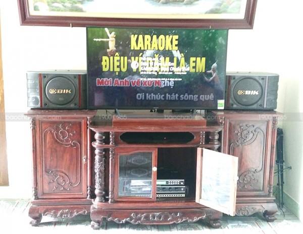 Lắp đặt dàn karaoke BIK cho gia đình anh Thịnh ở Đông Anh, Hà Nội ( BIK 998NV, BKsound DP-3500, U900 Plus X)