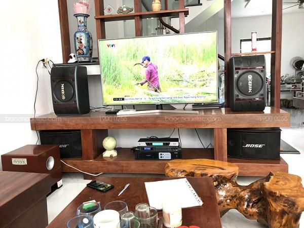 Lắp đặt dàn karaoke BIK cho gia đình anh Trường ở Yên Bái (BIK BS-998NV, Famous 3206, DSP-9000, BCE UGX12)