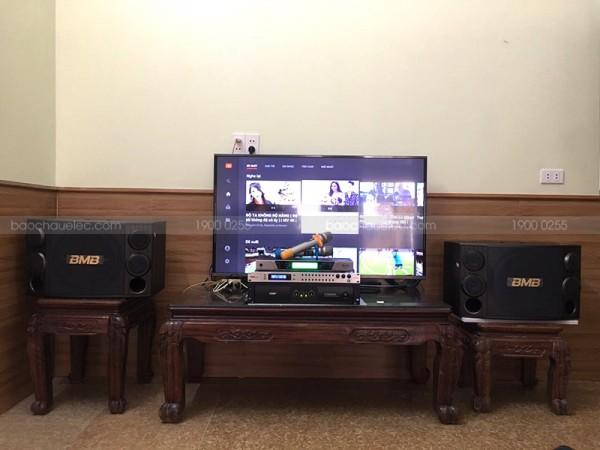 Lắp đặt dàn karaoke BMB của gia đình anh Dương ở TP.Bắc Ninh ( BMB 2000C, SAE CT6000, DSP9000, BCE UGX12)