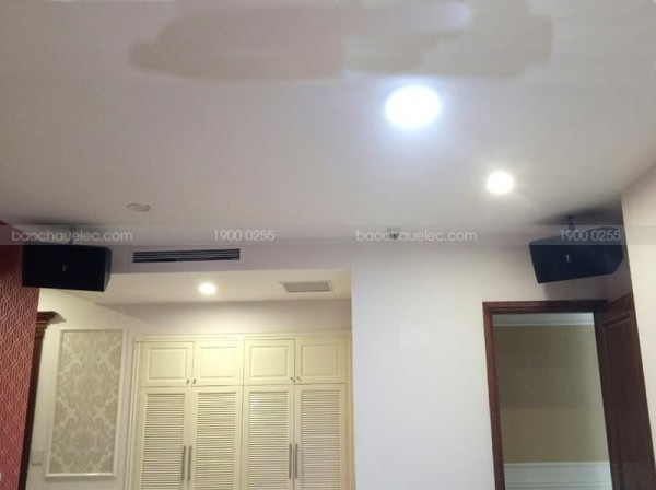 Lắp đặt dàn karaoke cao cấp cho gia đình anh Nhã ở khu đô thị Bắc An Khánh ( Domus 6100, A120PWAS, Famous 7406, KX180, Plus 4TB, 22 inch, UGX12)