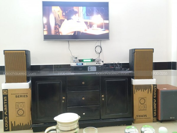 Lắp đặt dàn karaoke cho gia đình chị Thu ở Hóc Môn ( KTWO10, Sub Arirang, DSP-9000, Famous 3206, BCE UGX12)
