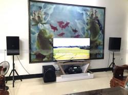 Lắp đặt dàn karaoke Domus cho gia đình anh Bắc ở Quảng Xương, Thanh Hoá ( Domus 6120, Sub 2000, BCE 6200, BCE UGX12)