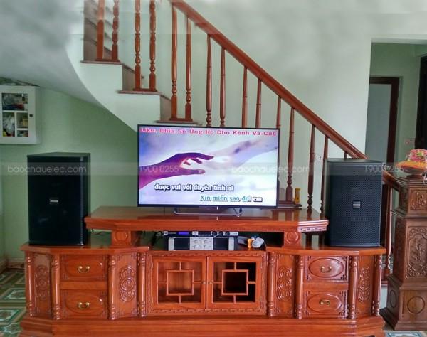 Lắp đặt dàn karaoke Domus cho gia đình anh Dũng ở Hà Nam (Domus 6120, Famous 7406, JBL KX180, U900 Plus New)
