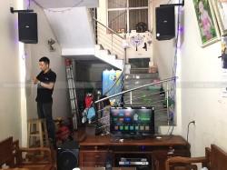 Lắp đặt dàn karaoke Domus cho gia đình chị Phương ở Bắc Ninh ( Domus 6100, sub 2000, SAE Ct6000, DSP9000, BCE UGX12)