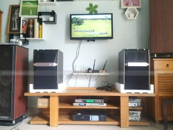 Lắp đặt dàn karaoke JBL cho gia đình anh Bình ở Dĩ An, Bình Dương ( JBL Ki512, DSP 9000, Famous 3206, U900 Plus X)