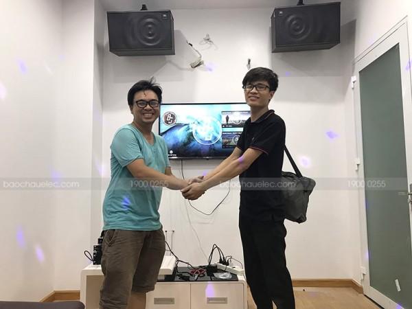 Lắp đặt dàn karaoke JBL cho gia đình anh Hậu ở Trảng Bom, Đồng Nai ( JBL MK12, SAE CT6000, X5 Plus, UGX12 Gold)