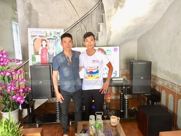 Lắp đặt dàn karaoke JBL cho gia đình anh Huy ở Chúc Sơn, HN ( JBL 4012, Sub JBL A120PWAS, JBL KX180, JBL X6,  VIP 3000)