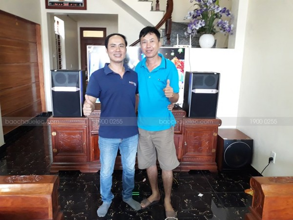 Lắp đặt dàn karaoke JBL cho gia đình anh Tuấn ở Hồng Bàng, Hải Phòng (JBL Ki512, Paramax 2000, SAE CT6000, FX-9MK, Hanet 1TB)