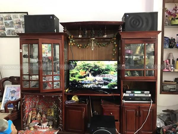 Lắp đặt dàn karaoke JBL cho gia đình anh Vũ ở Ngũ Hành Sơn (JBL Mk12, sub 2000, DSP9000, SAE CT6000, BCE UGX12)