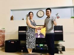 Lắp đặt dàn karaoke JBL cho gia đình chị Huyền ở An Dương, Hải Phòng ( JBL Ki512, BCE UGX12, Alto TS312, JBL X6, KX180, Hanet 1TB)