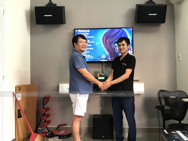 Lắp đặt dàn karaoke Paramax cho gia đình chú Công ở Phú Nhuận (Paramax K850, NS-SW100, SAE CT3000, DSP-9000, BCE UGX12)