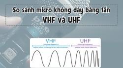 So sánh micro karaoke không dây băng tần VHF và UHF