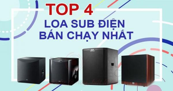 Top 4 dòng loa sub điện bán chạy nhất hiện nay (update T10/2019)