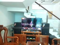 Bộ dàn karaoke JBL của gia đình anh Trung ở Quận 12 (JBL MTS12, R120SW, JBL KX180, SAE CT6000, BCE UGX12)