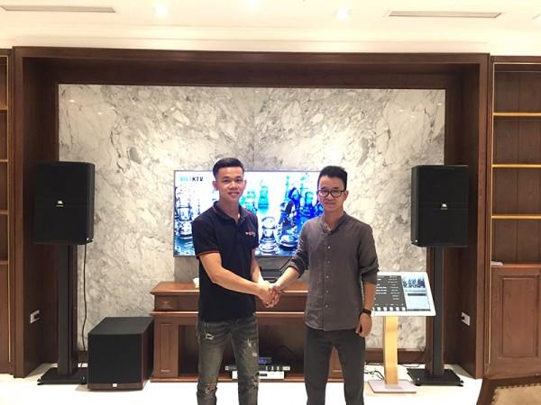 Dàn karaoke cao cấp cho gia đình anh Cường ở Vinhome Riverside Long Biên (JBL4012, A120PWAS, KX180, JBL X8, JBL VM300, Plus 4TB, 22 inch)