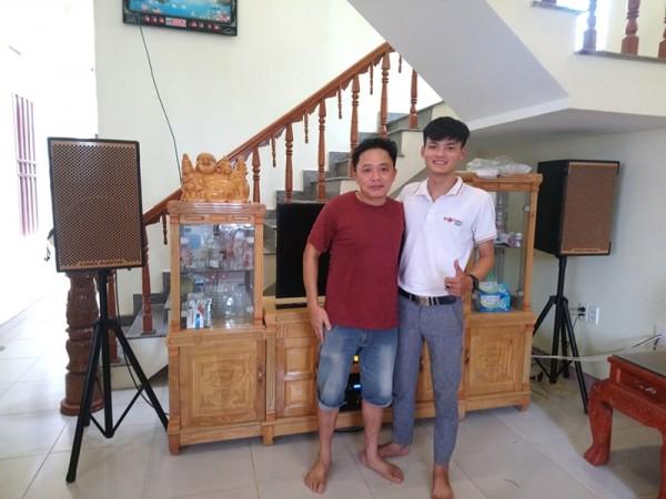 Dàn karaoke cho gia đình anh Dũng ở Yên Định, Thanh Hóa (Louis Martin KTWO12, AAP TD8004, 92000 Bluetooth, UGX12 Gold)