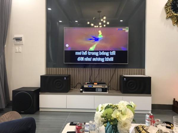 Dàn karaoke JBL của gia đình anh Thi ở Sơn Trà, Đà Nẵng (JBL MK12, paramax 1000, DSP 9000, Famous 3206, BBS B900)