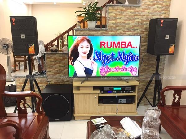 Dàn karaoke JBL VIP của gia đình anh Tùng ở Hoàn Kiếm (KES 6100 MKII, Sub 1000, JBL KX180, Famous 3206, UGX12 Luxury)