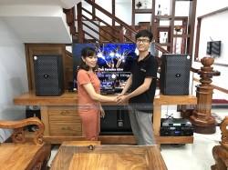 Lắp đặt bộ dàn karaoke cho anh Chính ở Dĩ An, Bình Dương (LDH Wolver II12, BJ-W66 Plus, AAP TD6004, BCE UGX12)