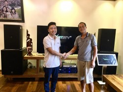 Lắp đặt bộ dàn karaoke gia đình VIP cho chú Hùng ở An Dương, Hải Phòng (JBL 4015, JBL 6015, Sub BF V18S, Crown T10, JBL KX180, BCE VIP3000)