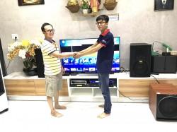 Lắp đặt dàn karaoke BMB cho gia đình anh Hòa ở Đồng Nai (BMB 3012, sub 2000, BF Audio K7, SAE CT6000, UGX12 Plus Luxury, Hanet 1TB)