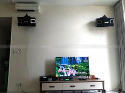 Lắp đặt dàn karaoke BMB cho gia đình chị lan ở chung cư The Vista (BMB 450SE, X5 Plus, Famous 3206, UGX12 Luxury)