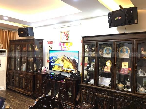 Lắp đặt dàn karaoke cho gia đình chú Cường ở Hà Nội (BMB CSE 312, DP9200+, AAP TD6004, BCE UGX12)