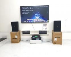 Lắp đặt dàn karaoke hay cho gia đình anh Hoàng ở Hàm Nghi, Thanh Hóa (Domus DP6100, DSP-9000, Famous 3206, U900 PlusX)
