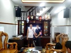 Lắp đặt dàn karaoke JBL cao cấp cho gia đình anh Giám ở Hóc Môn (JBL MTS12, LDH TB18, JBL KX180, Famous 7406, JBL VM300, Hanet 2TB)