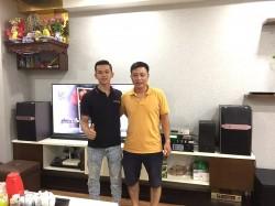 Lắp đặt dàn karaoke JBL cho anh Bình ở chung cư Ecolife Tây Hồ (JBL Ki510, R120SW, Famous 3206, JBL KX180, UGX12 Luxury, Plus 4TB, Viet KTV 22 inch)