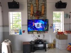 Lắp đặt dàn karaoke JBL cho gia đình anh Bảo ở Tân Phong, Đồng Nai (Domus DP6100, Arirang ASIII, JBL KX180, Famous 3206, BCE UGX12)