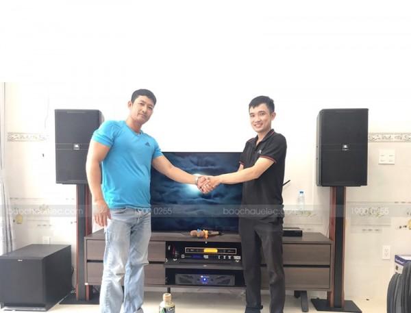 Lắp đặt dàn karaoke JBL cho gia đình anh Chúc ở Quận 12 (JBL 4012, JBL KX180, Crown Xli2500, UGX12 Gold, Hanet 2TB)