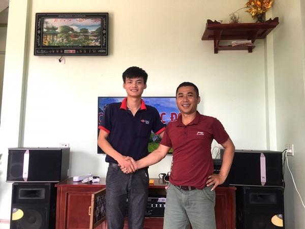 Lắp đặt dàn karaoke JBL cho gia đình anh Trường ở Quảng Xương, Thanh Hóa (JBL ki512, JBL KX180, BCE P-8200, UGX12 Luxury)