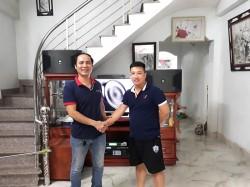 Lắp đặt dàn karaoke JBL cho gia đình anh Vinh ở Kiến An, Hải Phòng (JBL Ki312, sub 2000, Famous 3206, DP 9200+, BCE UGX12)