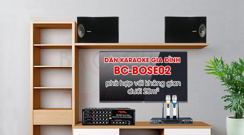Dàn karaoke Bose phù hợp với phòng dưới 20m2, karaoke hay, nghe nhạc thích