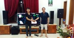 Bộ dàn karaoke JBL cao cấp của gia đình anh Quảng ở Quận 2 (KP4012, SPL120, JBL KX180, Crown T5, JBL VM300)