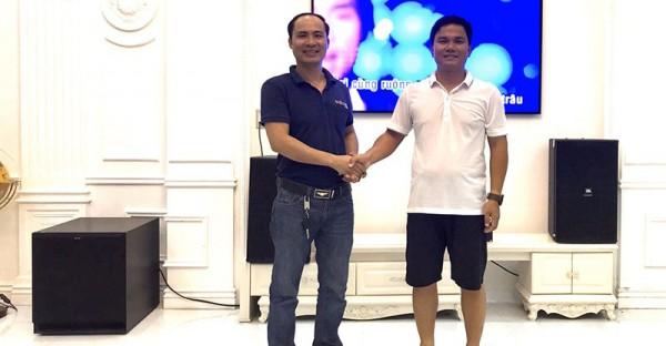 Lắp đặt bộ dàn karaoke JBL cao cấp cho gia đình anh Thanh ở An Dương, Hải Phòng (JBL KP4012, JBL KX180, SPL150, Crown T7, BCE VIP3000)
