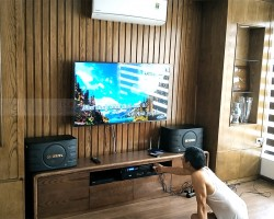 Lắp đặt dàn karaoke BIK cho gia đình chú Minh ở Mai Dịch, HN (BIK S668, SAE Ct3000, Listensound FX-9MK, BCE U900 Plus)