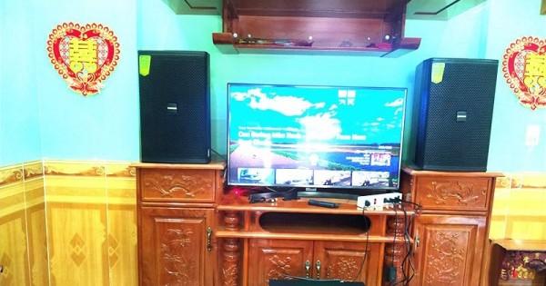 Lắp đặt dàn karaoke gia đình cho chị Hòa ở Trảng Bom (Domus 6120, SAE CT6000, X5 Plus, UGX12 Luxury)