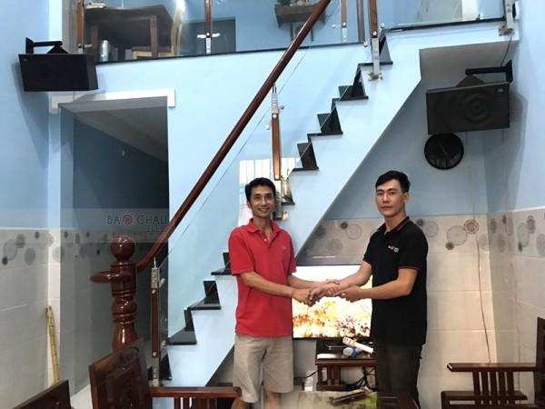 Lắp đặt dàn karaoke JBL cho gia đình anh Hùng ở Bình Dương (JBL MK10, BKSound 3500, BCE U900 Plus New)