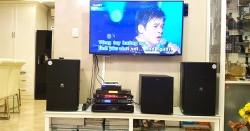 Lắp đặt dàn karaoke JBL cho gia đình anh Tộ ở Bình Chánh (JBL KP4012, R120SW, BCE 9200+, UGX12 Plus, Hanet 4TB)