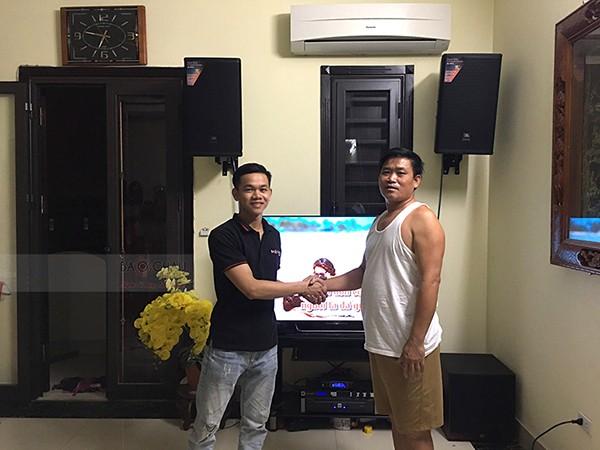 Lắp đặt dàn karaoke JBL cho gia đình anh Tư ở Long Biên (JBL MTS12, JBL A120P, JBL KX180, JBL X8, JBL VM300)
