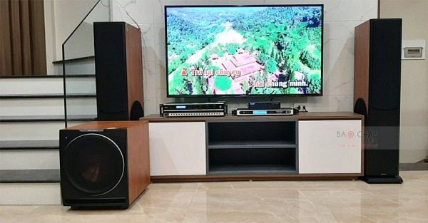 Lắp đặt dàn karaoke Paramax cho gia đình anh Hùng ở VSip Bắc Ninh (Paramax D88, Sub 2000, DP-3500, Pro 8000, Hanet 4TB)