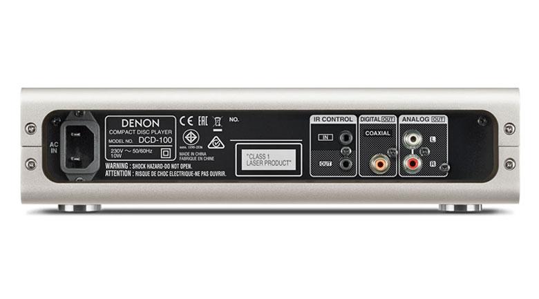 Mặt sau đầu Denon DCD-100