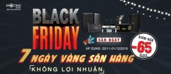 Black Friday – Giảm tới 65% các thiết bị âm thanh - Mua ngay kẻo lỡ