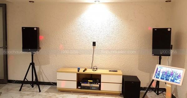 Bộ dàn karaoke của gia đình anh Nghi ở Quận 2 (Discovery II12, R120SW, SAE PKM 8.5, JBL KX180, K2 4TB, UGX12 Plus)