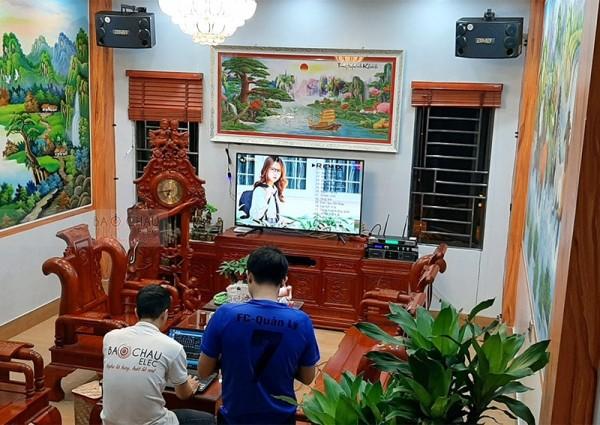 Dàn karaoke BMB cho gia đình anh Doanh ở Bắc Ninh (BMB 880SE, Lexpro PXM7, JBL KX180, BCE UGX12)