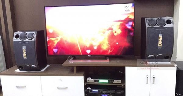 Dàn karaoke BMB của gia đình chị Tiến ở Lê Chân, HP (BMB 880SE, NS-SW300 Black, AAP TD8004, DSP9000, BCE UGX12 Luxury)