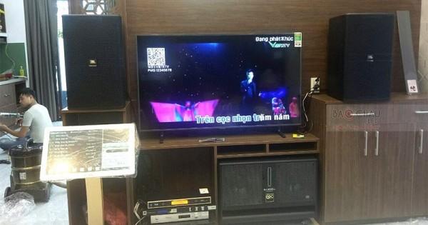 Dàn karaoke JBL cao cấp cho gia đình anh Phi ở Đà Nẵng (JBL KP4010, BJ-W66 Plus, AAP TD6004, JBL KX180, Plus 3TB, UGX12 Gold)