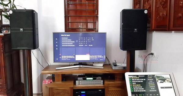Dàn karaoke JBL cao cấp cho gia đình anh Tuấn ở Vũ Ninh (JBL KP4012, Famous 7406, DSP-9000, Equalizer 231S, UGX12 Luxury, Plus 4TB)